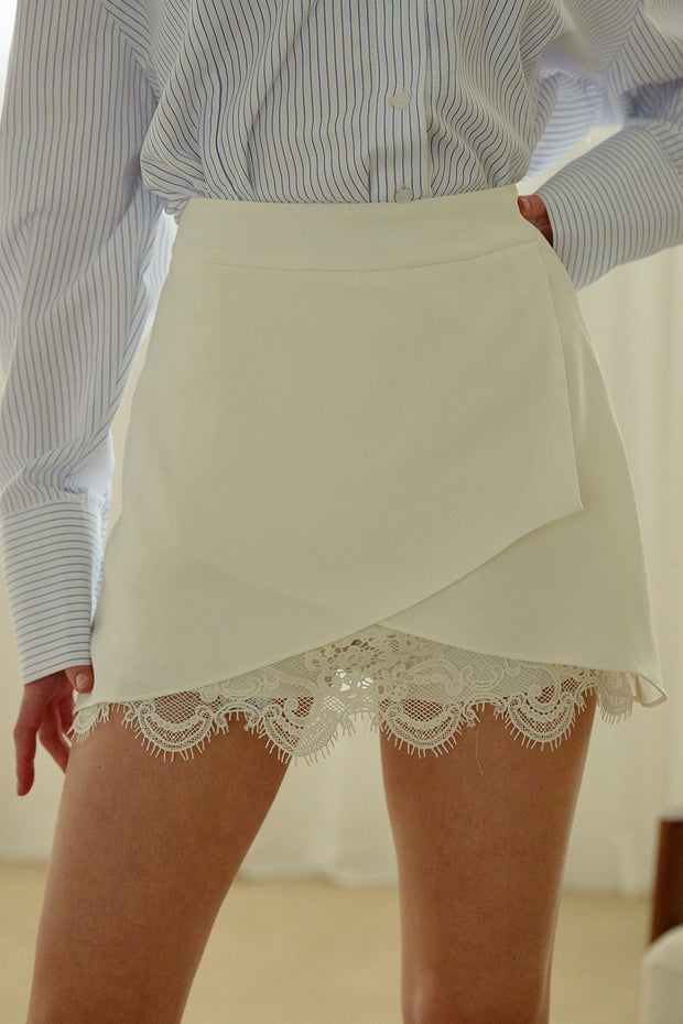 Emmy Lace Trim Wrap Skirt
