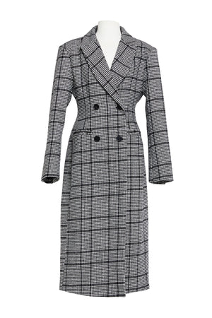 Peggy Double Breasted Plaid Coat-2 Colors (Pre-Order)