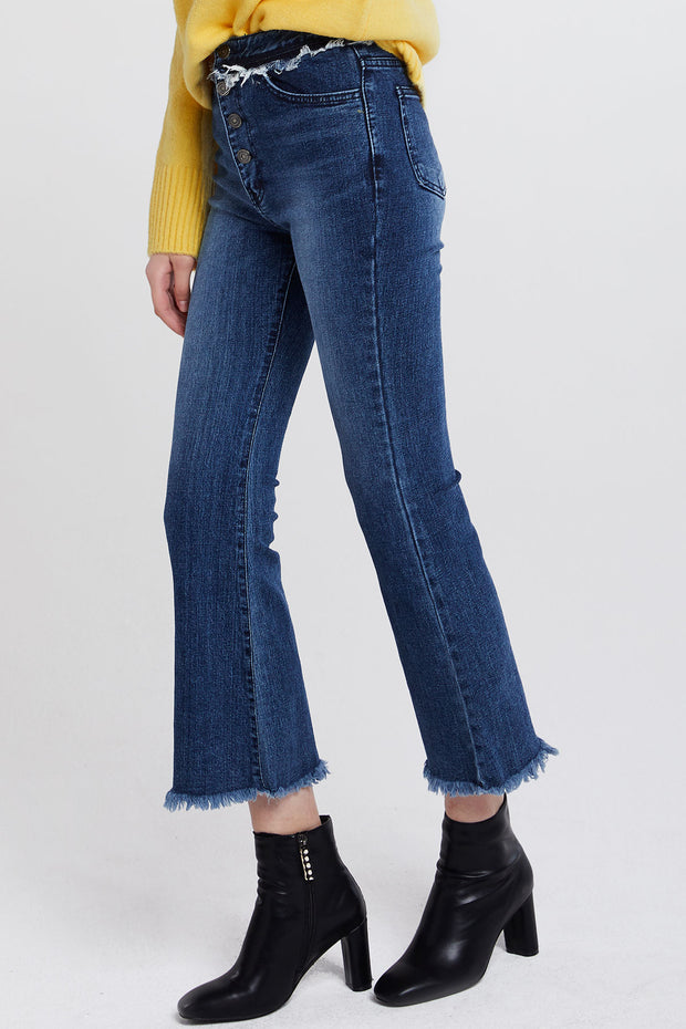 Holly Fringed Flare Jeans