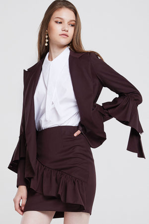 Elena Flouncy Tiered Jacket
