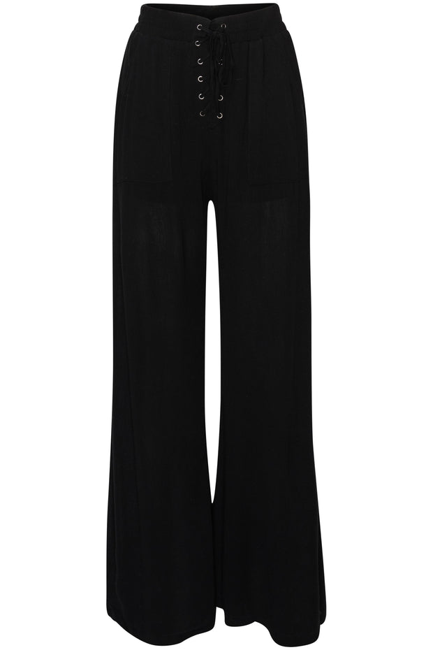 [DOUBLE ICON] OWN IT WIDE LEG WOVEN PANTS