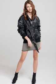 Metallic Oversized Jacket