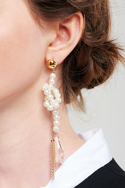 Knotted Pearl Earrings