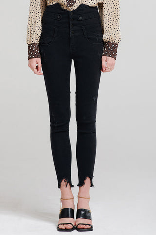 Bryton Edgy Button Up Skinny Jeans