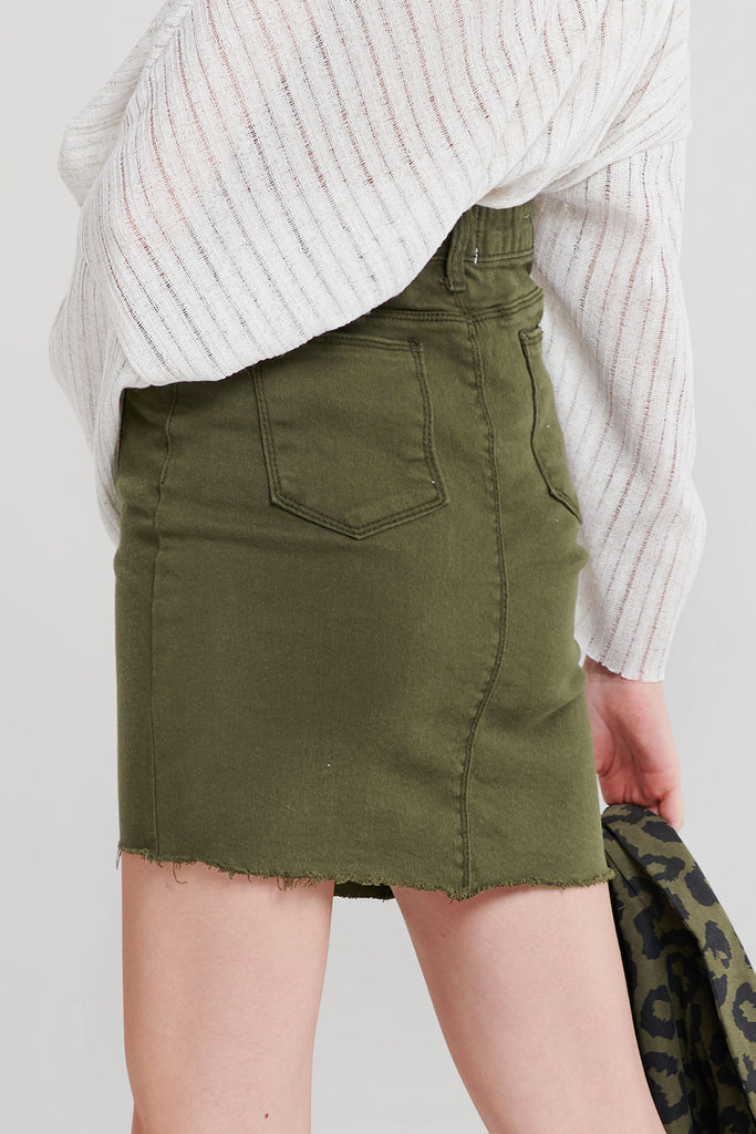 Fia Curve Stitch Skirt