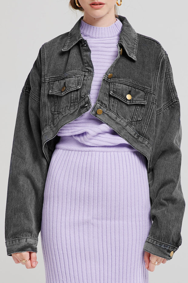 Frida Cropped Denim Jacket