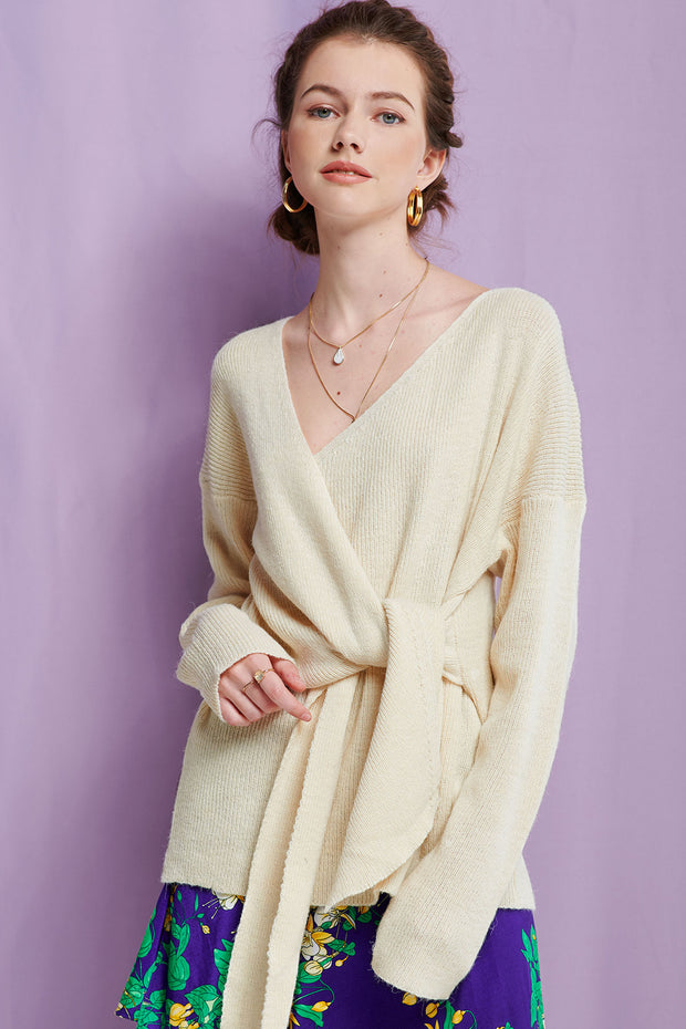 Gemma Tied Sweater-2 Colors