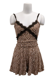 Rachel Leopard Cami Top And Shorts Set