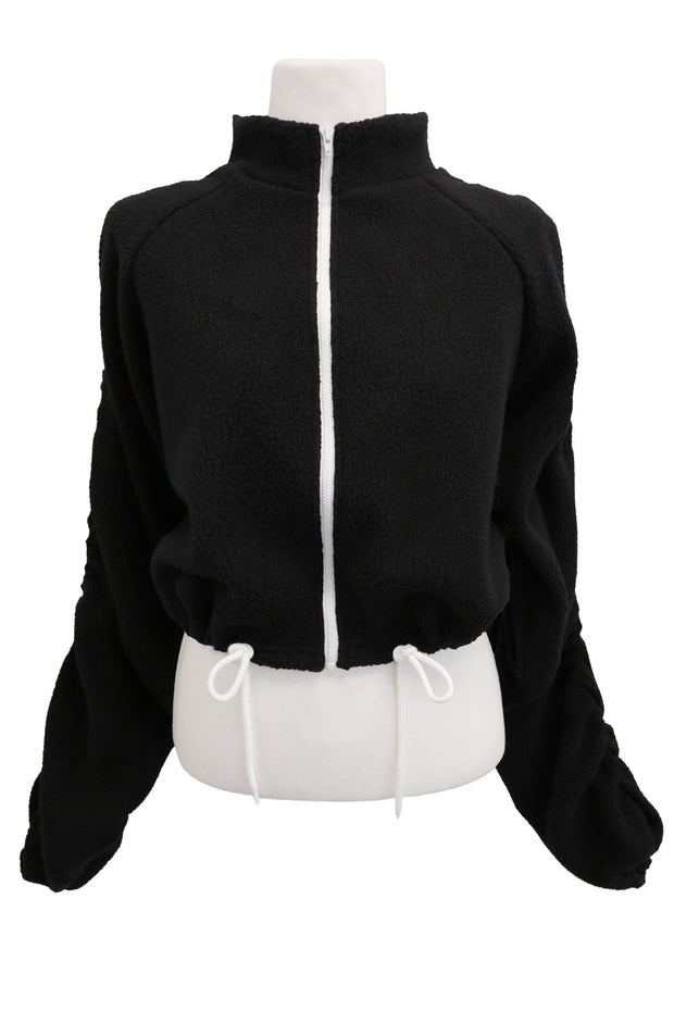 storets.com Addison Ruched Fleece Jacket