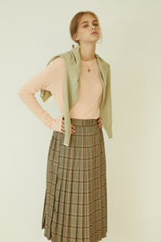 [ANEDIT] P Check Pleats Skirt_BE