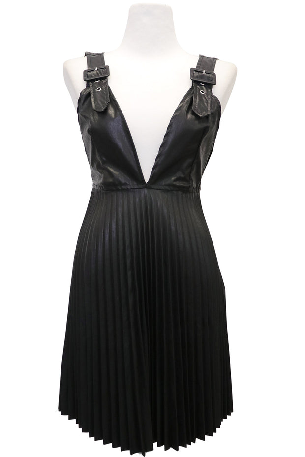 storets.com Ember Pleather Pleated Dress