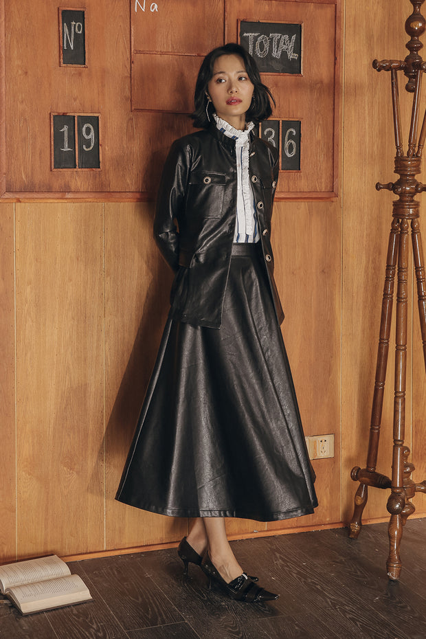 [Sincethen] Herrsy Leather Twopiece_Skirts