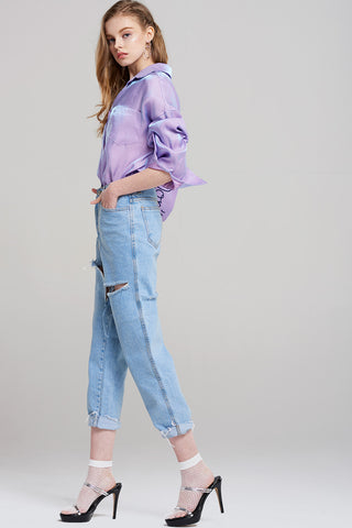 Ava Distressed Cut Jeans