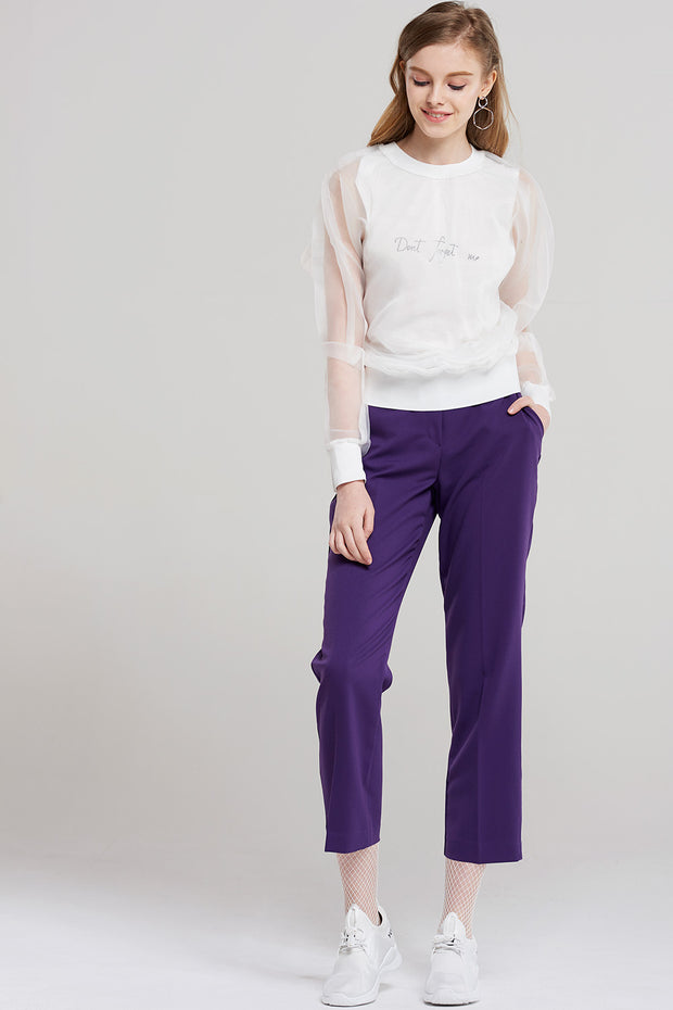 storets.com Joan Beatles Purple Crop Pants