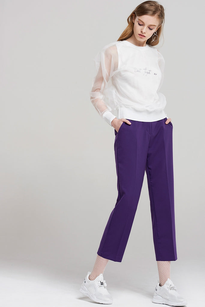 Joan Beatles Purple Crop Pants