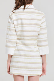storets.com Jocelyn Stripe Collared Dress
