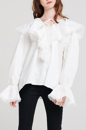 Sabine Frilly Tied Blouse