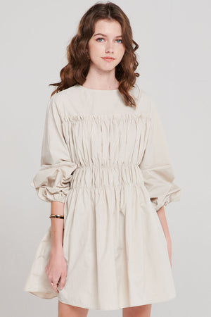 Coa Shirring Flare Dress