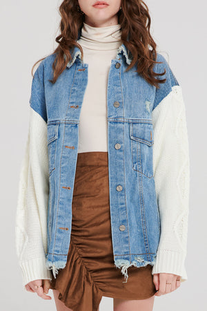 Kira Knit Denim Jacket