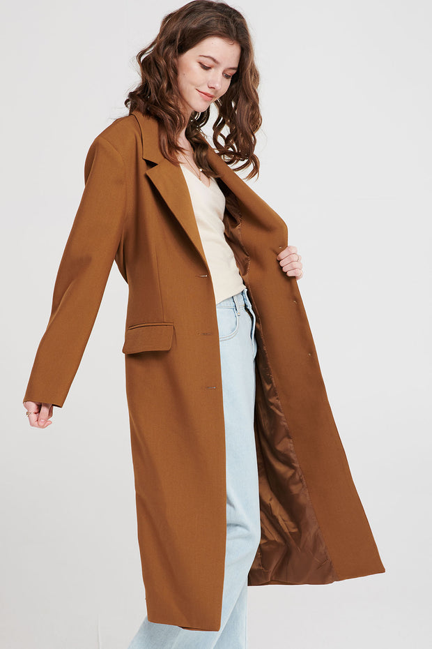 Boe Long Caramel Coat