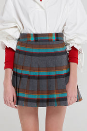 storets.com Gracie Color Plaid Skirt