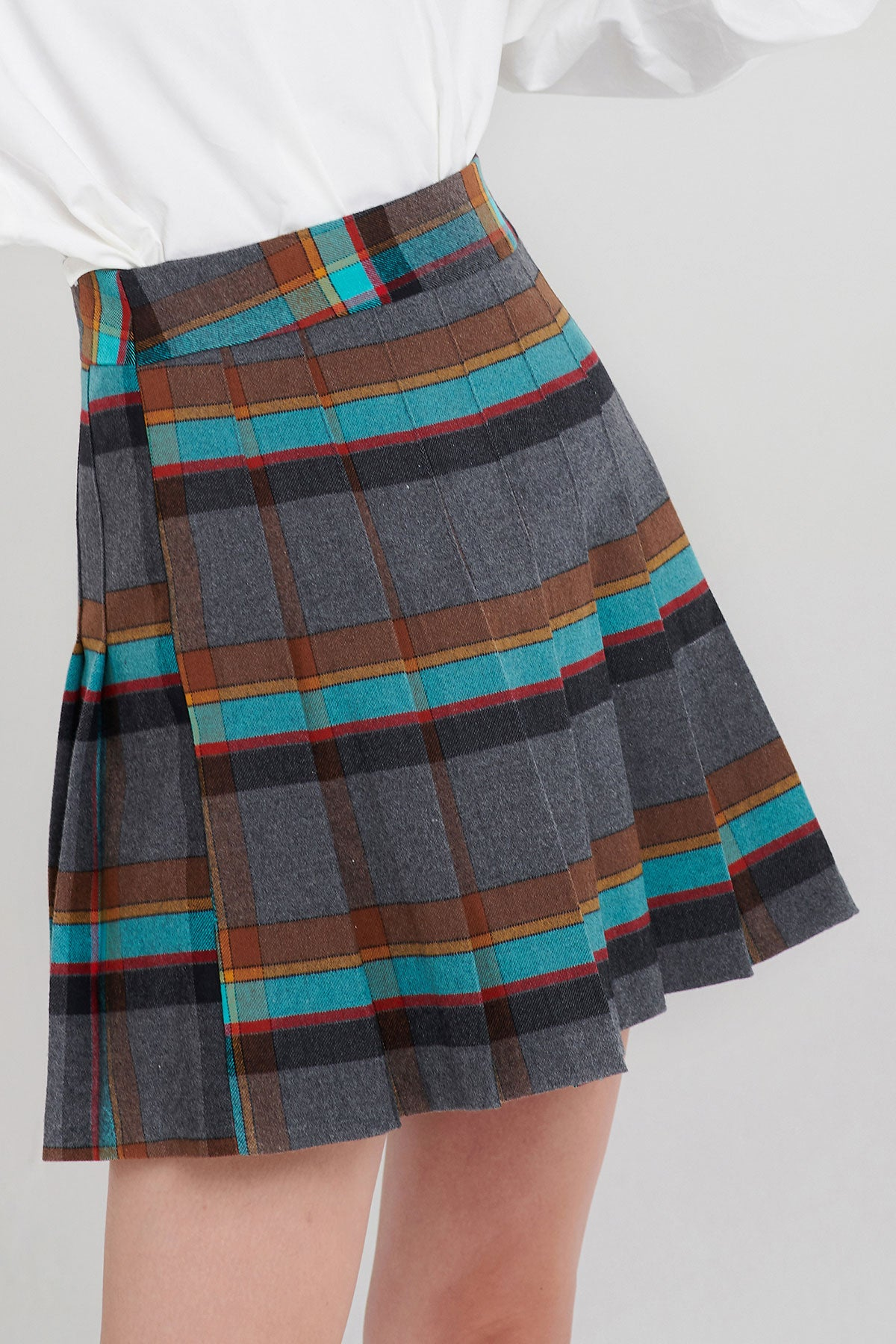 Gracie Color Plaid Skirt