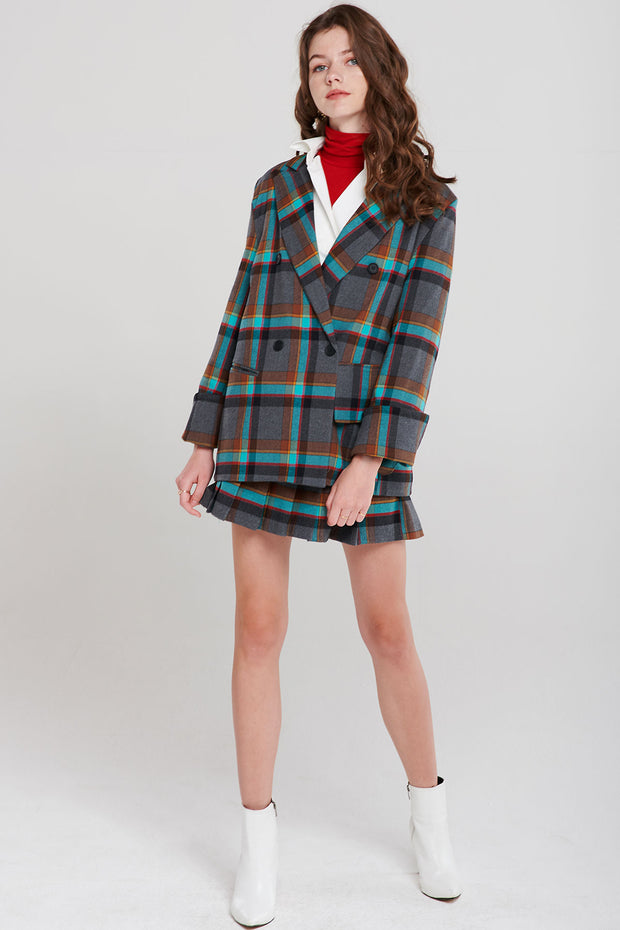 Gracie Color Plaid Blazer
