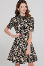 storets.com Sara Collared Print Dress