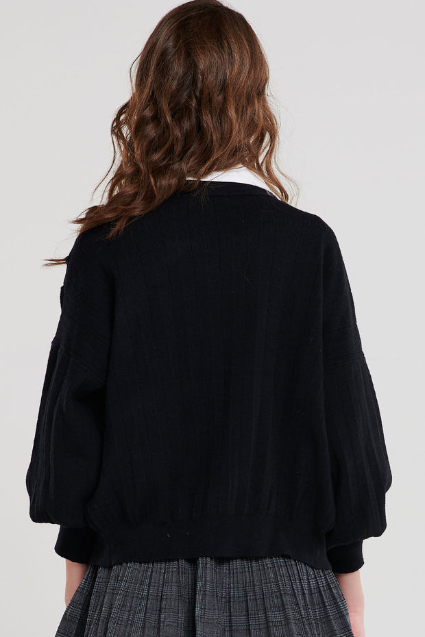 Cordelia Pleated Cardigan-3 Colors