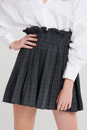 Wendy Ruffle Waist Plaid Skirt