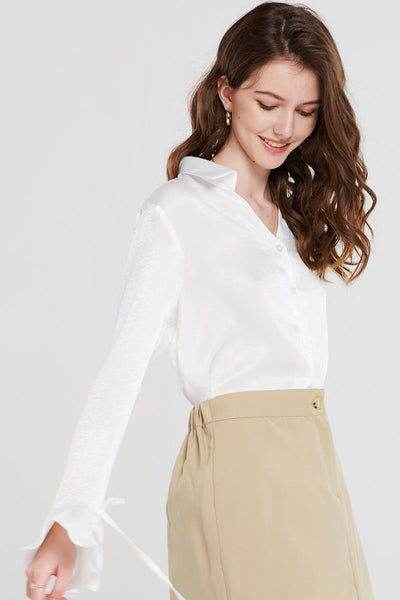 Allison Ruffle Cuff Blouse