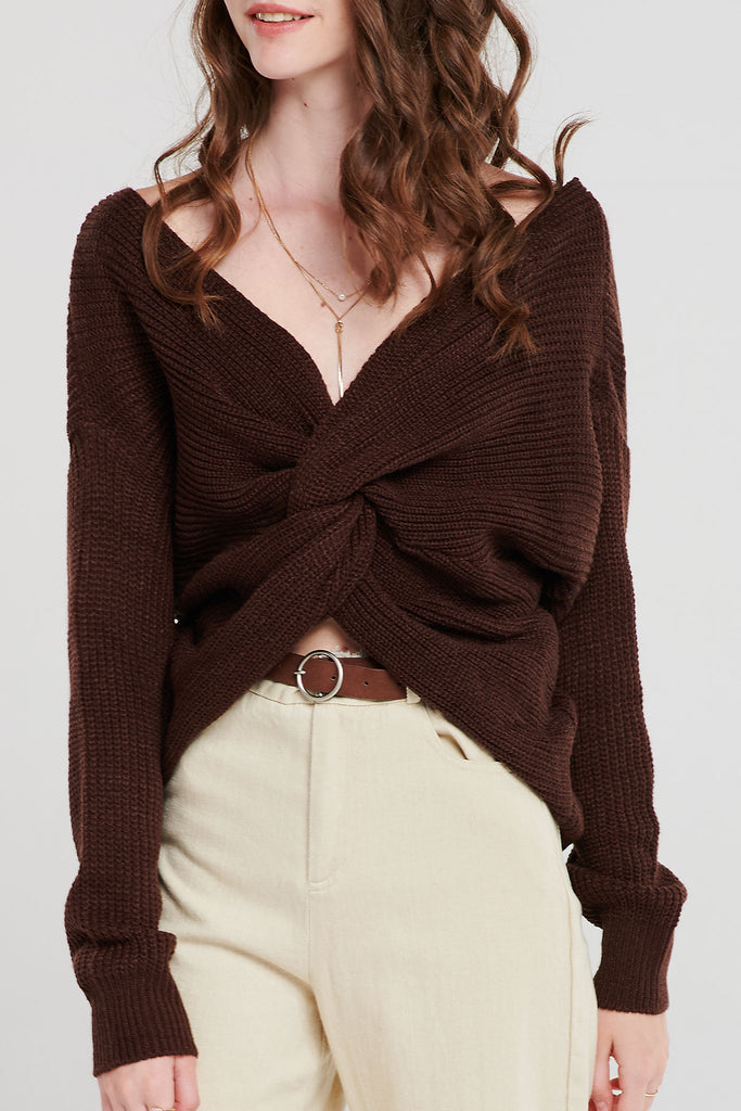 Cara Twisted Knit Top