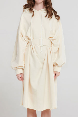 Rona Belted Hoodie Dress