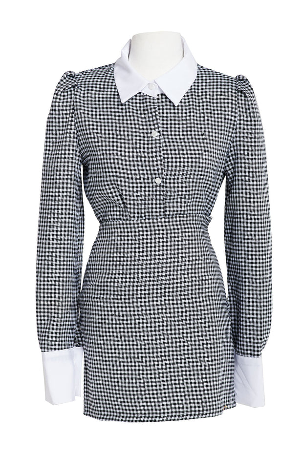 Pamela Gingham Collared Set-2 Colors