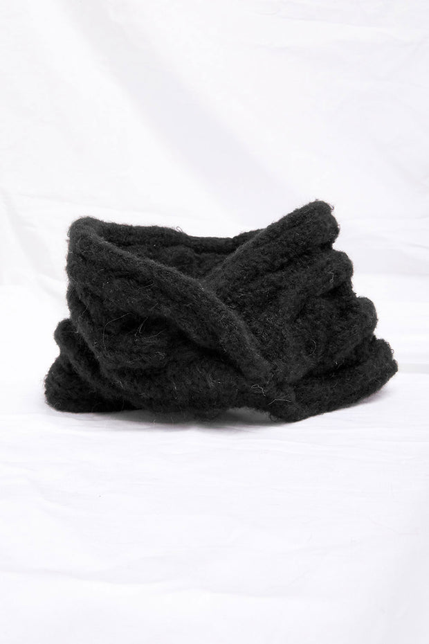 Cable-Knit Hair Turban
