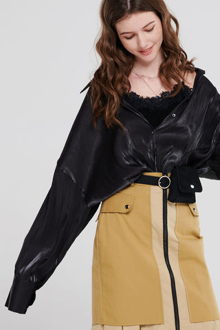 Alice Satin Drop Shoulder Shirt