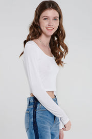 Terry Square Neck Crop Top-2 Colors
