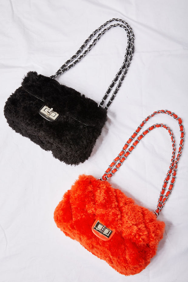 Fuzzy Purse Bag