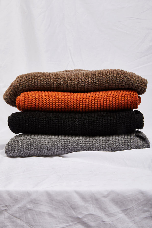 Rib-Knit Turtleneck Warmer Muffler