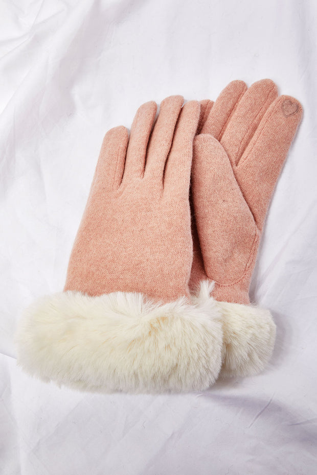 Faux Fur Cuff Gloves