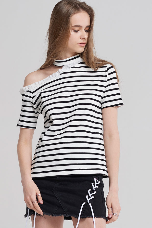 Loly Stripe Choker Top