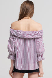 Gracie Stripe Twist Blouse