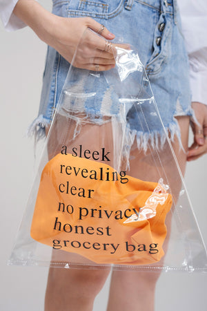 Clear Plastic Shopper