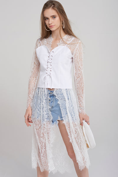 Carol Lace Robe Cardigan