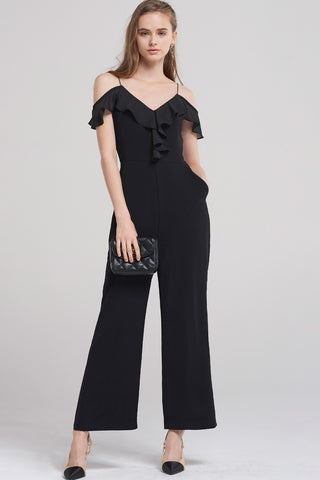 Samanda Cold Shoulder Jumpsuit
