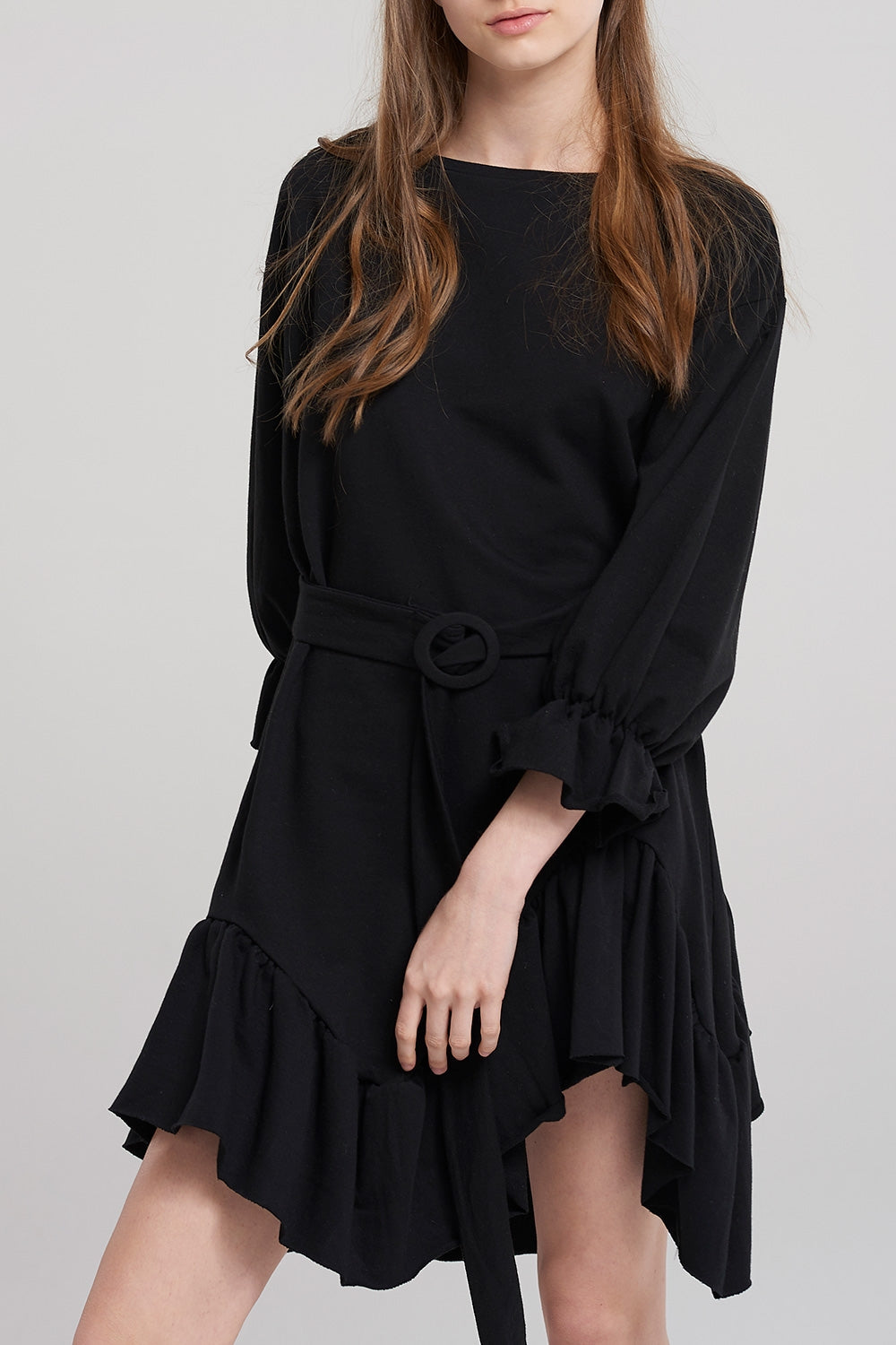 Giny Frill Belt Sweat Dress
