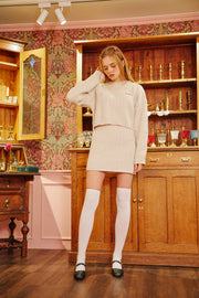 [LETTER FROM MOON] Wool Knit Skirt in Ivory