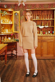 [LETTER FROM MOON] Wool Knit Skirt in Beige