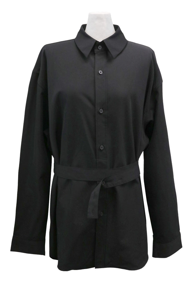 storets.com Coraline Belt Tab Button Down Shirt