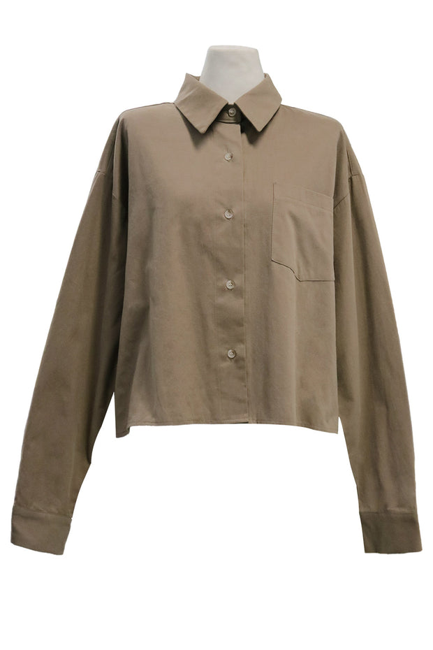 storets.com Aspen Cropped Button Down Shirt